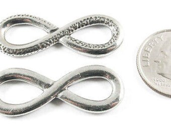 TierraCast Connector-Antique Pewter INFINITY LINK 32x12mm (2)