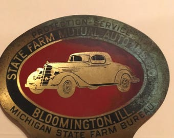 Michigan State Farm Bureau car emblem