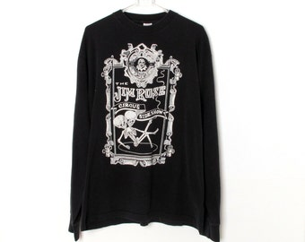 Vintage 90s The JIM ROSE Freak Show Long Sleeve T-shirt Size XL Grunge Lollapalooza