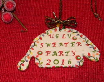 Ugly Sweater Party 2016  Contest  Party Christmas  Ornament   Award for the Awful Sweater Office Christmas party