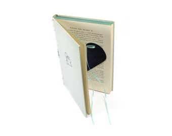 """Vintage Book """"Where The Heart Is"""" Made Into A Ring Holder Hollow Book Box Heart Shaped For Wedding, Proposal, Engagement - READY TO SHIP"""