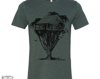 Mens TREEHOUSE Cabin t shirt s m l xl xxl (+ Color Options)