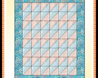 Downloadable Candy Stripe Quilt Pattern