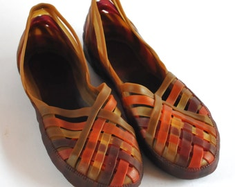 Traditional Rainforest Shoe - Purple, Orange and Brown