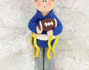 Gift for Flag Football Player - Flag Football Ornament - Football Christmas Ornament - Handmade Polymer Clay - Football Fan Gift - 319