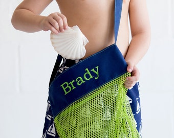 Personalized Mesh Shell Pool tote