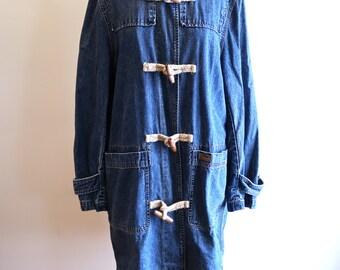 Ralph Lauren 90s denim duster jacket UNISEX sz. Small / Medium