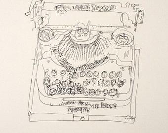 Old Typewriter print
