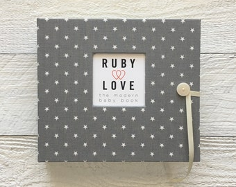 Mini Gray Star | BABY BOOK
