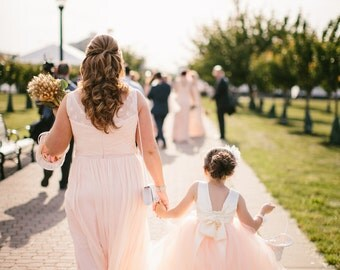 As Seen on BRIDAL MUSINGS - The Juliet Dress in Ivory Blush - Flower Girl Tutu Dress