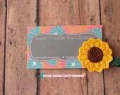 Girls Hair Clip--Sunflower Feltie