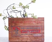 Vintage Wooden Cheese Crate / 1960's Industrial Decor / Urban Farmhouse / Swiss Knight