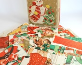 Vintage Christmas Pop Up Cards Complete Box of 14 Santa's Playmates Cute Mid Century Tree Ornaments