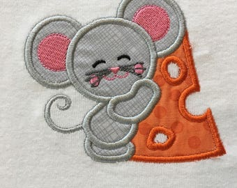 Mouse baby onesie, infant bodysuit, toddler shirt, made to order