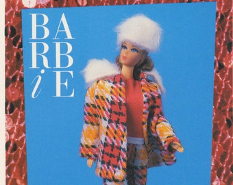 """Barbie Collectible Trading Card - """"Perfectly Plaid"""" 1971 - Card No. 98 for Barbie collectors, dioramas, Barbie history, Vintage look"""