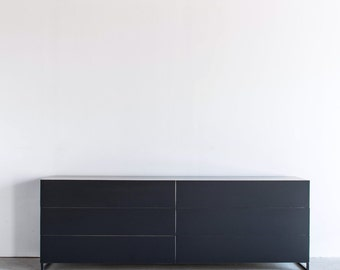 Modern All Metal Steel Dresser - Touch Release drawers