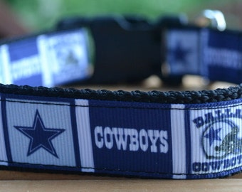 Dallas Cowboys dog collar & leash