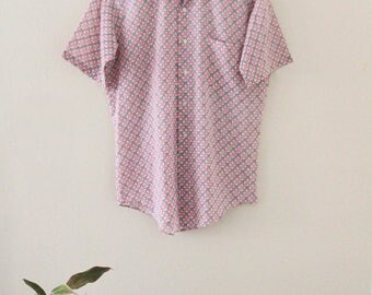 60's Short Sleeved Button Up