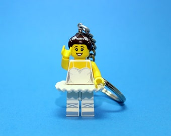 Ballerina Keychain - made from new Ballerina LEGO ® Minifigure