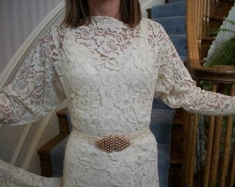 Dolman Sleeve Wedding Dress Of Ivory Beaded Vintage Flapper 1920 39 S Wedding Dressthe