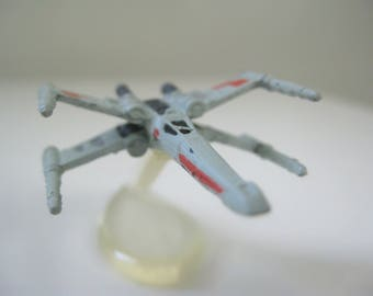"Star Wars X-Wing Miniature Toy, Star Wars Micro Machines, Last Jedi, Force Awakens, 2"" Star Wars Ship with Display Stand, Mini Star Wars Toy"