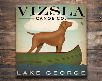 free to personalize VIZSLA Dog Canoe Company Gallery Wrapped Canvas  Signed