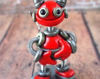Valentine's Day Robot Devil Dell Mini Robot Sculpture Geek Unisex Gift