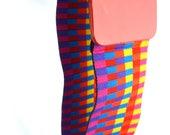 Vintage 80s Rainbow Wide Cinch Belt