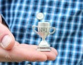 Father's Day Number One Dad Trophy, Miniature Trophy, Gift for Dad, Grandpa, Daddy Gift, from Kids, No. 1 Dad, Best Dad, Father's Day Gift