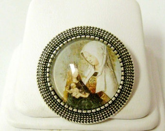 Saint Anne pin/brooch - BR09-002