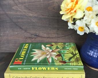 Decorative gardening books yellow green books flowers spring