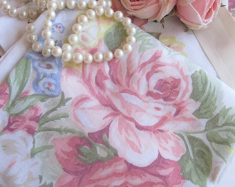 Pillowcase Set, Roses on Pillowcase Set, Bedding, French Country, Shabby French, Romantic Home, by mailordervintage on etsy