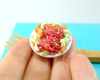 Dollhouse Miniature Food // Miniature Corned Beed and Cabbage for St. Patrick's Day // 1:12 Scale Food