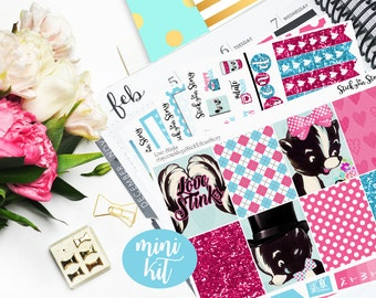 Love Stinks Mini Weekly Planner Kit Glossy Verticle Personal Student - Stick to Your Story