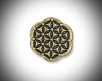 Gold Flower of Life Sacred Geometry Lapel Pin Seed of Life Gift for Groomsmen