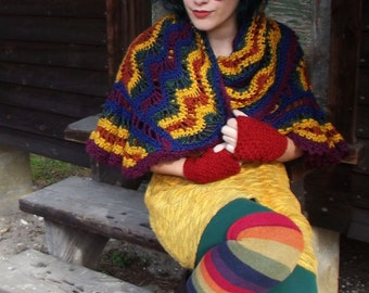 Harvest Rainbow Shawl - Made to Order - Crochet