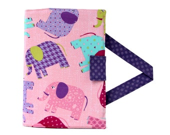 Elephants Crayon Artist Case, Ready To Ship, Crayon organizer, Coloring wallet, Crayon and paper holder, Crayon bag for kids