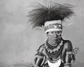 vintage tribe woman art print irving penn photograph black white photo image home decor picture new guinea tribal man mud men native 70s