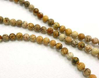 4mm Picture Jasper round Semi Precious Stone Beads, Full Strand