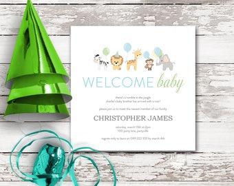 WELCOME to the JUNGLE printable invitation design