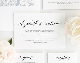 Elegant Romance Wedding Invitations - Deposit