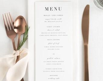 Serif Romance Dinner Menus - Deposit