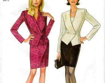 1990s Womens Suit Pattern - New Look 6578 - Size 8-18 UNCUT FF
