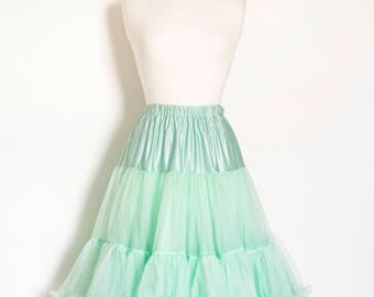 Mint Green Swing Petticoat - Soft - Two Layer - Fifties Petticoat - Tulle - Wedding - Retro - Swishy
