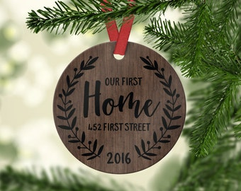 New Home Christmas Ornament New Home Gift Housewarming Gift New Home Ornament New Home Christmas Ornament Personalized Custom Wood Ornament