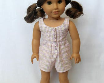Bubblegum Beach: A Pink Romper for 18-inch Dolls