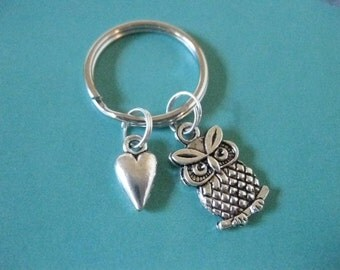 I Love Owls Key Ring