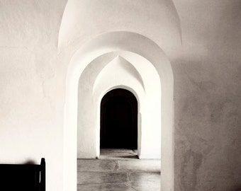 Cristobal Archway - Fine Art Photography - Puerto Rico - Black and White