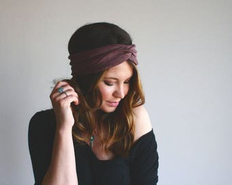 Purple and Gold - Turban Style Headband