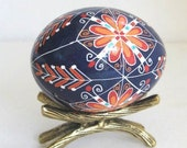 Pysanka chicken egg shell Ukrainian Easter egg hand painted egg ornament